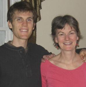 Portrait of Bev and her son Brendan
